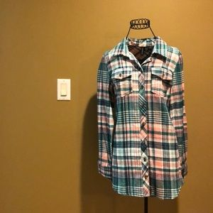 Brand New Pink and Blue flannel from Tilly's